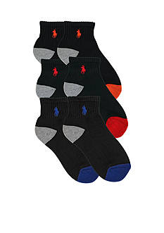 Ralph Lauren Childrenswear 6-Pack Quarter Socks