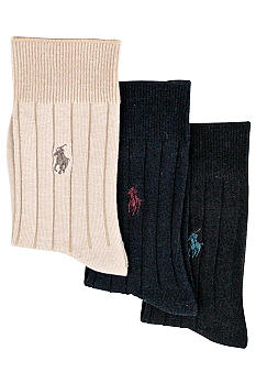 Ralph Lauren Childrenswear 3-Pack Ribbed Sock
