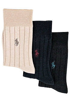 Ralph Lauren Childrenswear 3-Pack Ribbed Socks