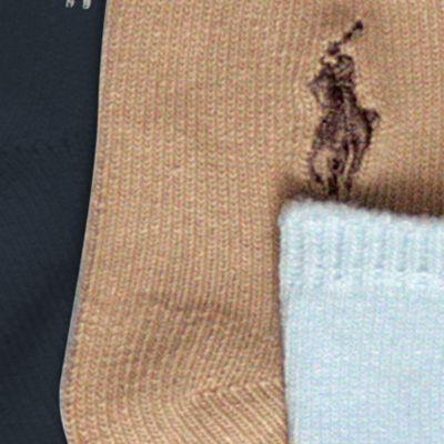 Baby Boy Formal Wear Accessories: Assorted Ralph Lauren Childrenswear 3-Pack Flat Knit Socks