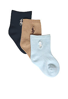 Ralph Lauren Childrenswear 3pk Flat Knit Socks