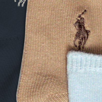 Baby Boy Socks: Assorted Ralph Lauren Childrenswear 3-Pack Flat Knit Socks