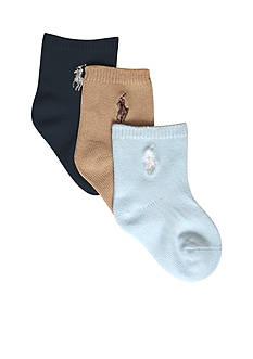 Ralph Lauren Childrenswear 3pk Flat Knit Socks