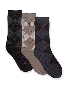 Ralph Lauren Childrenswear 3-Pack Polo Argyle Socks Boys 4-20