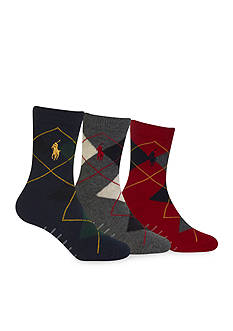 Ralph Lauren Childrenswear 3-Pack Argyle Dress Socks Toddler Boys
