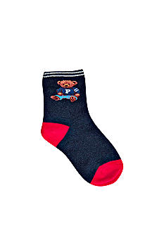 Ralph Lauren Childrenswear Teddy Bear Crew Socks Toddler Boys