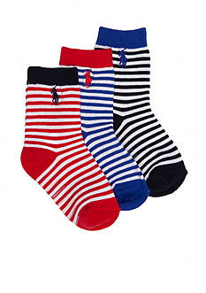 Ralph Lauren Childrenswear 3-Pack St. James Stripe Socks
