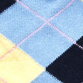 Boys Socks and Underwear: Sky Blue Ralph Lauren Childrenswear 3-Pack Gentsy Argyle Trouser Socks