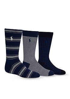 Ralph Lauren Childrenswear 3-Pack Fashion Dubliners Socks Boys 4-20