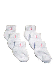 Ralph Lauren Childrenswear 6pk Athletic Sport Socks