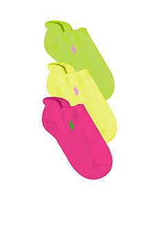 Ralph Lauren Childrenswear 3-Pack Ghost Socks Girls 4-16