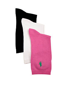 Ralph Lauren Childrenswear 3-Pack Flat Knit Socks Girls 4-16