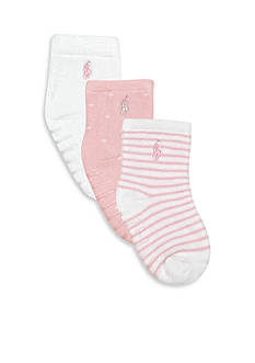 Ralph Lauren Childrenswear 3-Pack Terry Socks