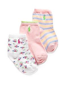Ralph Lauren Childrenswear 3-Pack Cape Cod Bohemian Crew Sock Set