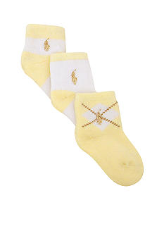 Ralph Lauren Childrenswear 3-Pack Argyle Crew Socks