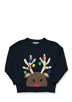 Kitestrings Long Sleeve Reindeer Sweater Boys 4-7