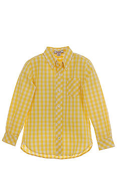 Kitestrings Yellow Check Woven Shirt Boys 4-7