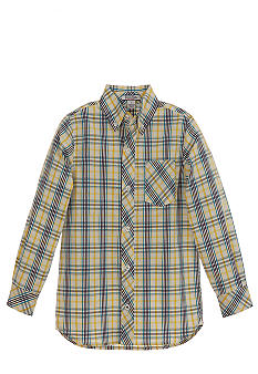 Kitestrings Blue Plaid Button Up Shirt Boys 4-7