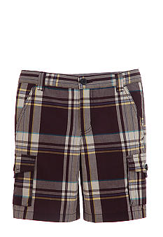Kitestrings Blue Plaid Cargo Short Boys 4-7