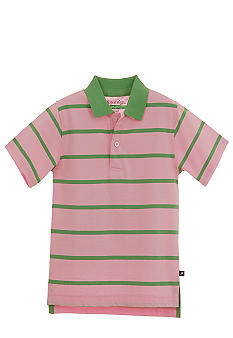 Kitestrings Pique Stripe Polo Shirt Boys 4-7
