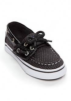 Sperry® Top-Sider Bahama Jr. Black Dot Boat Shoe - Infant/Toddler Girl Sizes 7-12