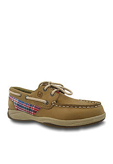 Sperry Top-Sider Intrepid Navy Red Plaid Boat Shoe - Kids Sizes 12.5 - 5