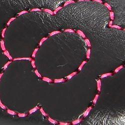 Toddler Girl Casual Shoes: Black Nina Applique Flower