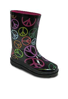 Peace Sign Rain Boot - Girls Sizes 12 - 4