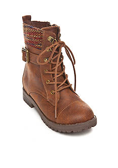 Sugar Creme Brulee Laceup Boot - Toddler/Youth Sizes