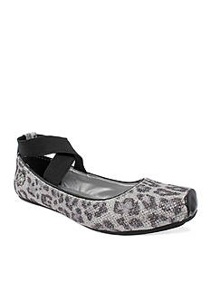 Jessica Simpson Madison Silver Leopard Flat - Toddler/Youth Sizes