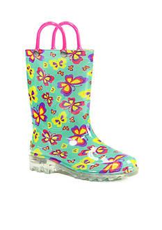 Western Chief Flutter Fierce Lighted Rain Boot