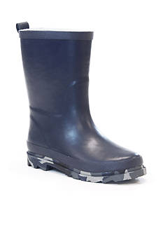 Western Chief Camo Sole Solid Rain Boot - Boy Toddler/Youth Sizes 13 - 4