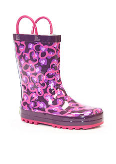 Western Chief Diva Leopard Rain Boot - Girl Infant/Toddler/Youth 8 - 3