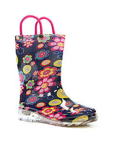 Western Chief Big Bloom Light Up Rain Boot- Infant/Toddler/Youth Sizes