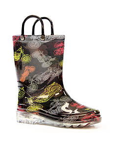 Western Chief Motorsports Light Up Rain Boot- Infant/Toddler/Youth Sizes