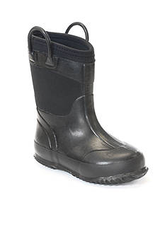 Western Chief Solid Black Neoprene Rain Boot - Toddler/Youth Sizes