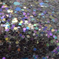 Nine West Kids: Black Glitter Nine West Kids Felicity Glitter Flat Shoe - Youth Sizes