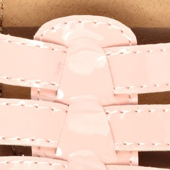 Toddler Girl Sandals: Seashell Hanna Andersson Vera Sandal - Girl Infant/Toddler/Youth Sizes 8 - 4 - Online Only