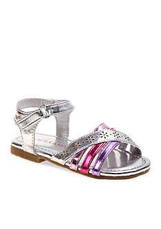 Laura Ashley Metallic Sandal - Toddler