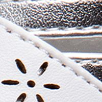 Toddler Girl Sandals: White Silver Laura Ashley Metallic Sandal - Toddler