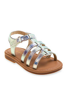 Laura Ashley Multi Strap Shine Sandal - Toddler