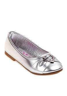 Rugged Bear Charm Ballerina Flat-Youth Sizes