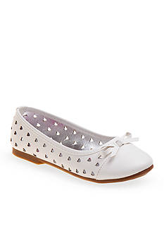 Rugged Bear Heart Cutout Ballerina Flat-Youth Sizes