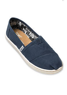 TOMS Classics Navy Slip On - Toddler/Youth Sizes