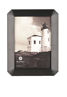 Burnes of Boston Octagon Wood Black 4x6 Frame