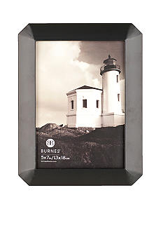 Burnes of Boston Octagon Wood Black 5x7 Frame
