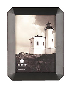 Burnes of Boston Octagon Wood Black 8x10 Frame