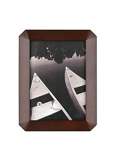 Burnes of Boston Octagon Wood Coffee Bean 4x6 Frame