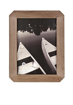 Burnes of Boston Octagon Wood Gray 5x7 Frame