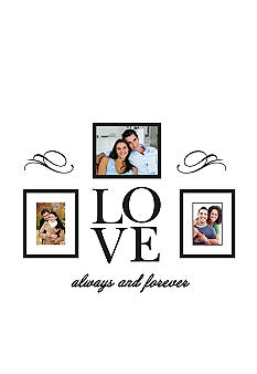 Burnes of Boston Love Decal and Three Piece 8x10 Frame Set